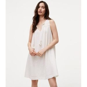 LOFT Dresses - NWT LOFT sleeveless white tassel dress